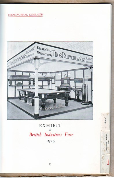 Thos Padmore exhibition stand