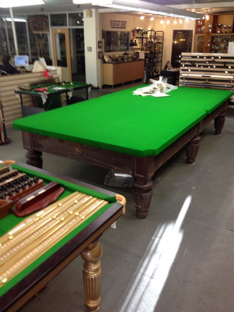 Marsden & Saffley Billiard Table ready for the cushions
