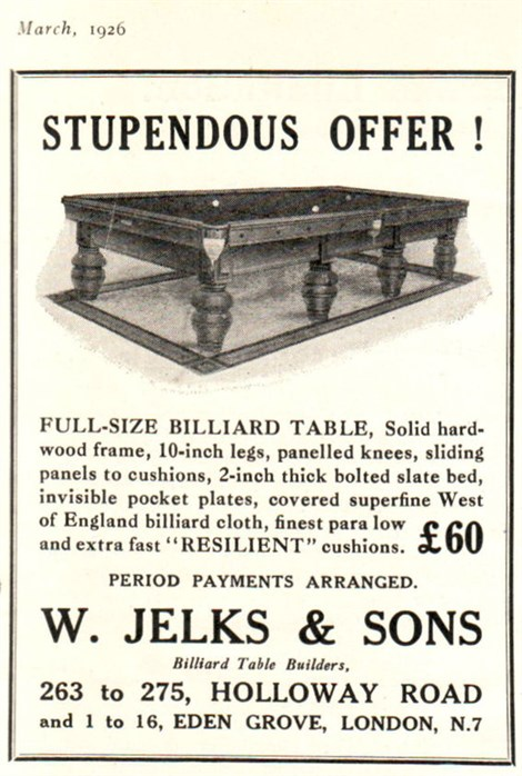Jelks Billiard Table builders