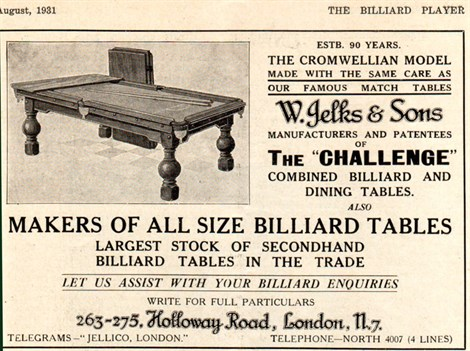 Jelks Largest Stock of Billiard tables_4
