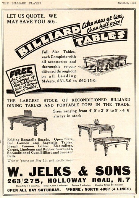 Jelks Billiard Dining Tables