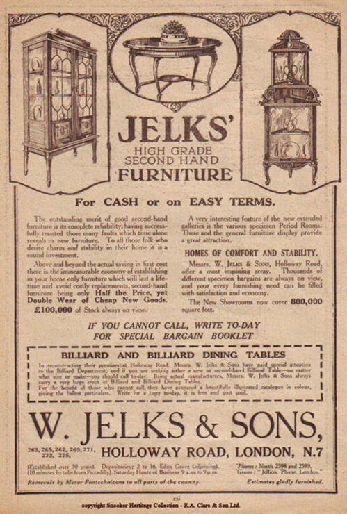 Jelks High Grade Secondhand furniture