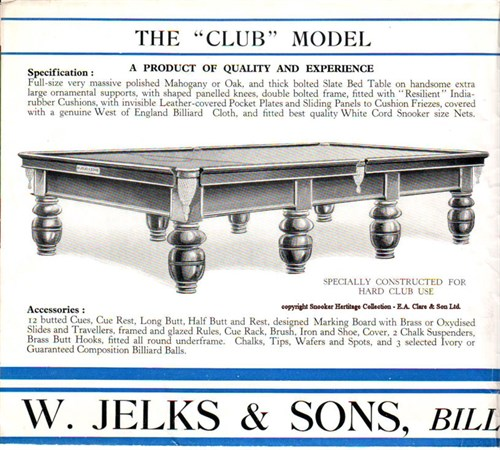 Jelks full size Billiard Table