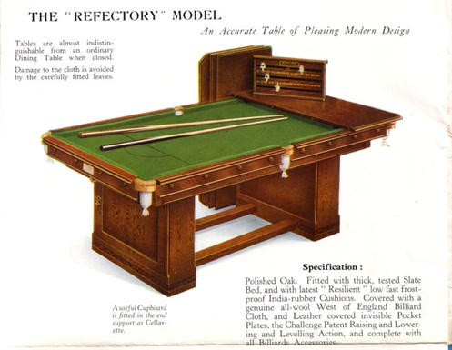 Jelks Billiard Dining Table