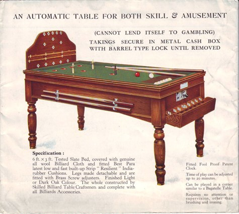 Early Jelks Bar Billiard Table