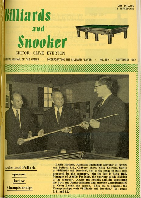 Sept 1967 The Billiard player