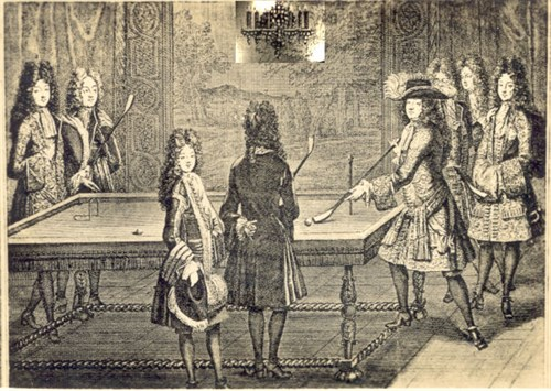 King Louis XIV at Billiards