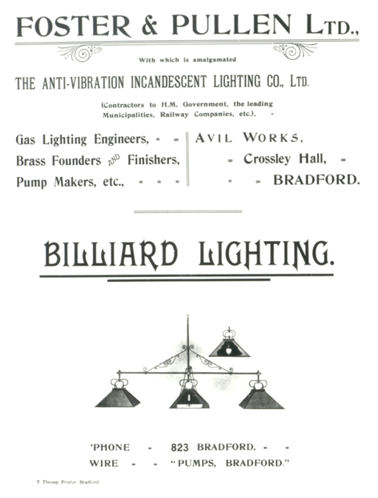 gaslamps for Billiards