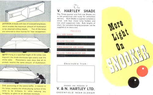 Hartley Snooker Lighting Shade