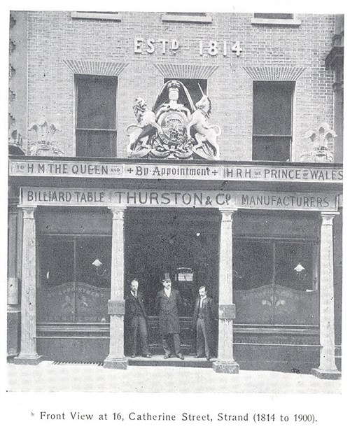 Thurston offices 16 Catherine Street, Strand, London