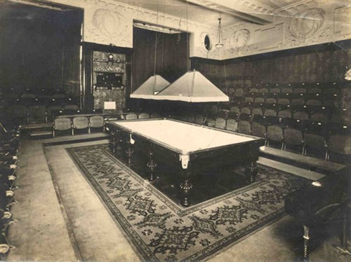 The famous Thurston Match Room in Leicester Square