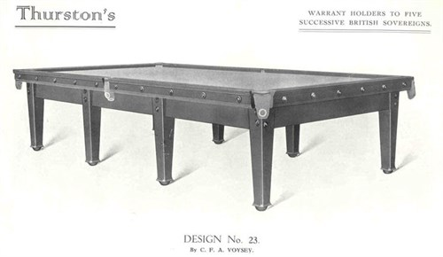 Thurston Billiard table designed by C.F.A. Voysey