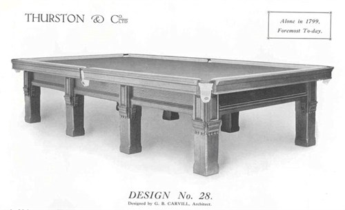 Thurston Billiard table by G. B. Carvill