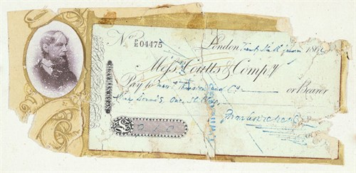 Charles Dickens cheque for Thurston
