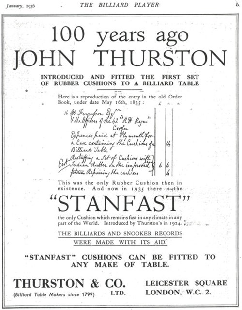 Thurston advert dated 1936