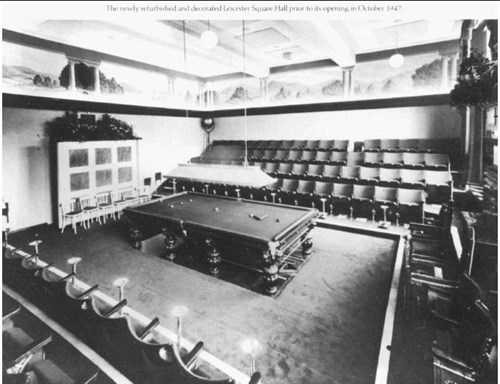 Leicester Square matchroom 1945