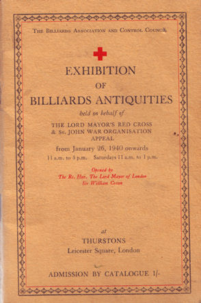 Billiard Antiquities Exhibition 1940