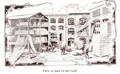 Thurston factory yard Chelsea 1908.