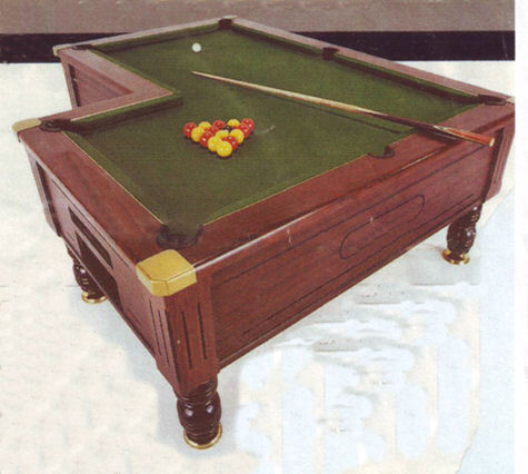 L shaped pool table