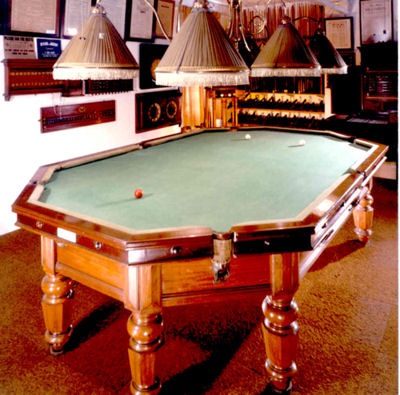 Octaganol Billiard Table