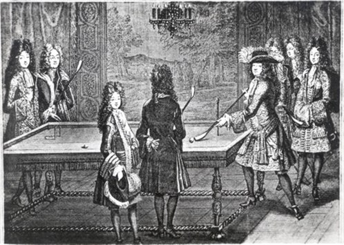 Louis XIV at Billiards