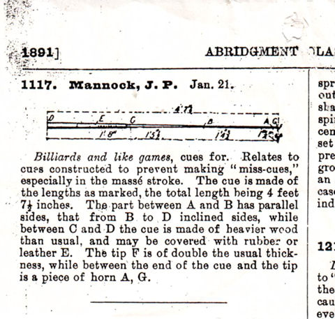 Mannock Billiard Cue