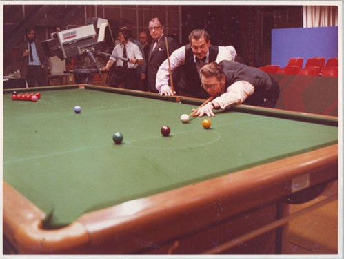 Pot Black Snooker on T.V.