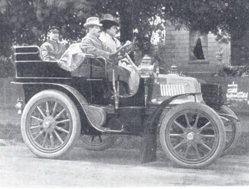 Peall in one of his cars