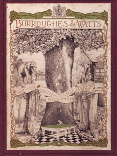 Burroughes & Watts booklet Frontcover 1923