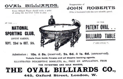 Orme & Sons Oval Billiard table