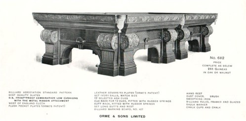 Orme & Sons catalogue