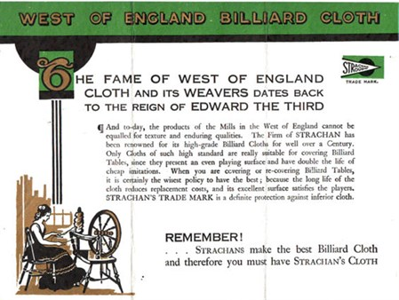 Strachan West of England Billiard Cloth