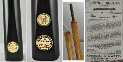 Burroughes & Watts Billiard Cues