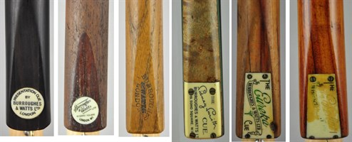 Billiard Cues by Burroughes & Watts