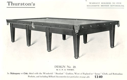 Voysey Billiard Table